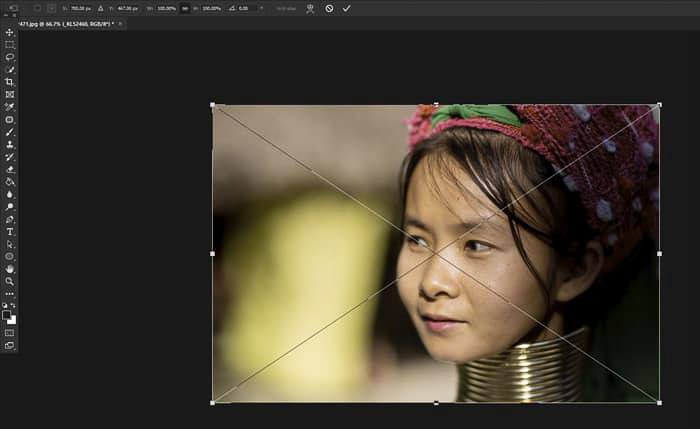 Screenshot showing how to merge photos in Photoshop