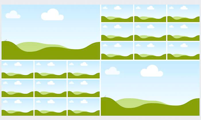 A screenshot of Canva mood board template