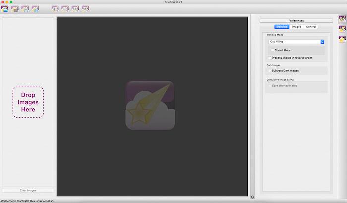 StarStax software interface.