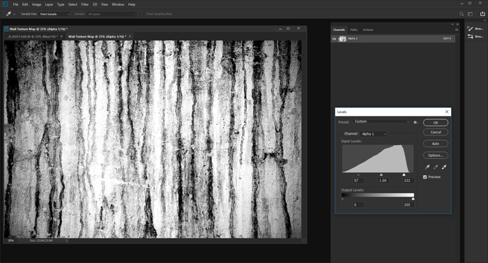 How to Use the Displacement Map in Photoshop Texture-Channel-Add-Contrast