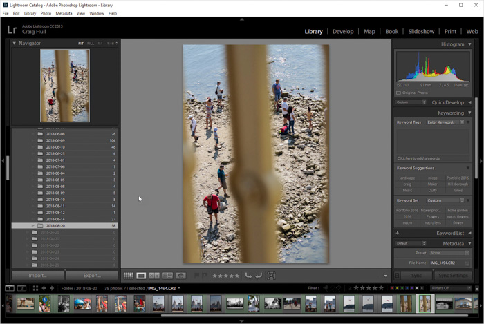 A screenshot of how to edit photos on adobe camera raw