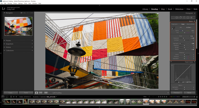 A screenshot of editing photos in adobe lightroom - aftershot pro 3 review
