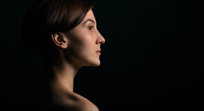 Atmospheric portrait of a female model