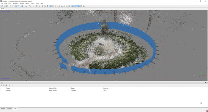 A screenshot showing how to create a 3d model from photos
