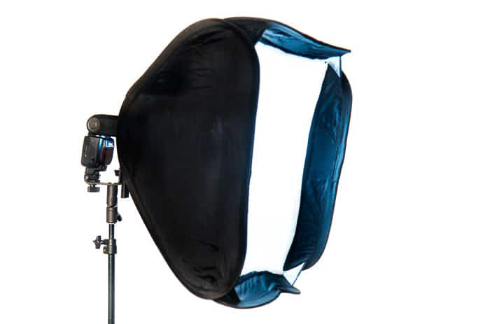 A softbox for better flash photography