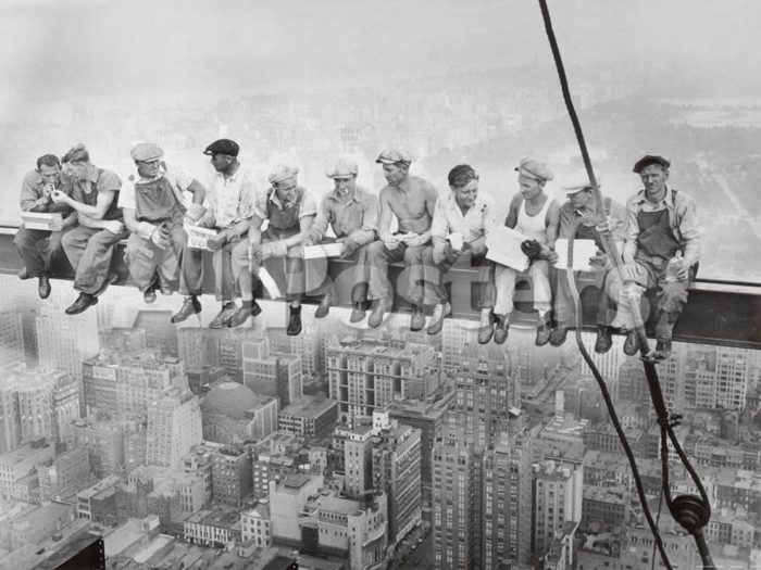 Lunch Atop A Skyscraper - most iconic photos