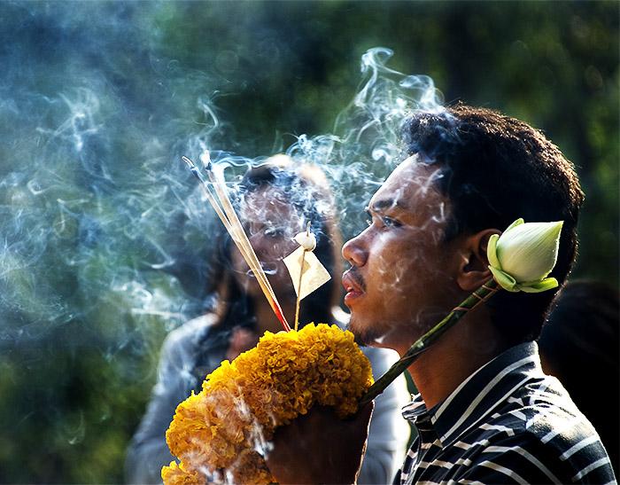 A Buddhist Worship ceremony