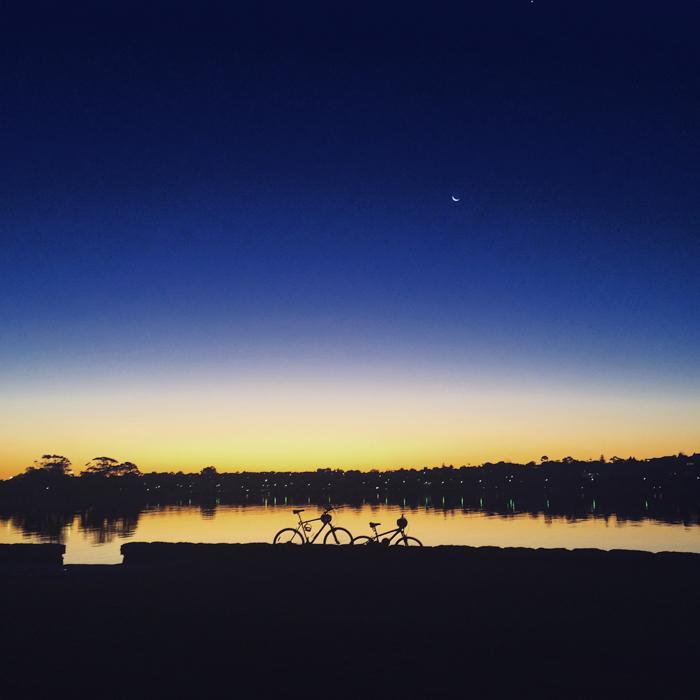 photo of silhouette of horizon at sunset