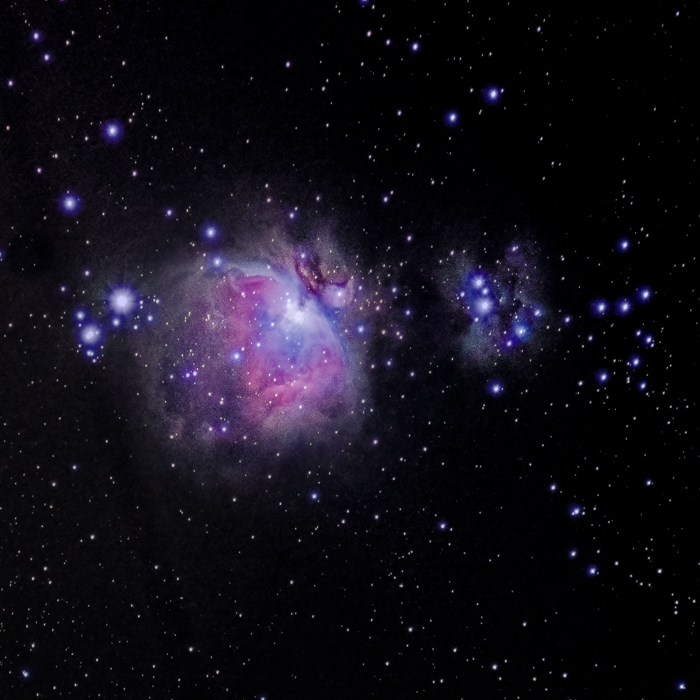 M42, the Great Orion Nebula in the Northern Hemisphere.
