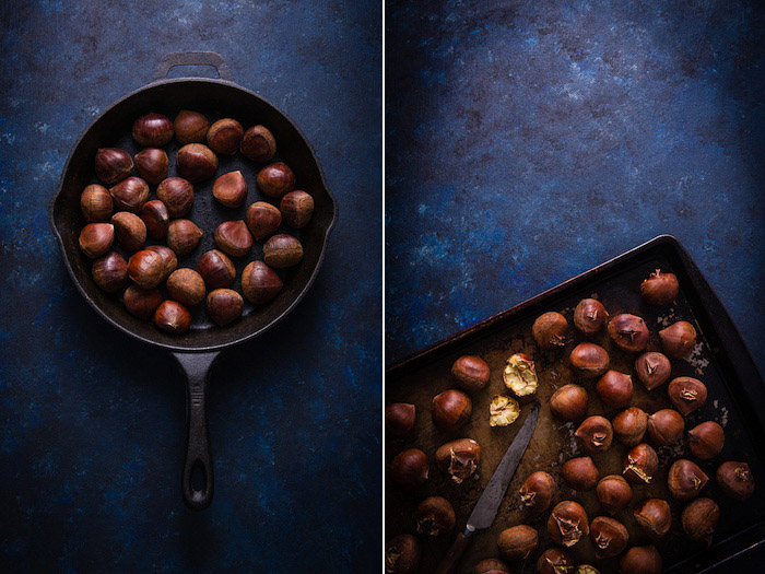 A flatlay diptych of gorgeous food photography - stock photography business