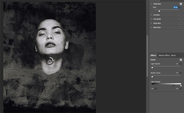 A screenshot showing how to create abstract portraits in Photoshop