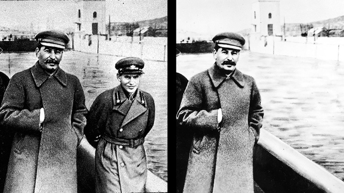 Comrade Stalin and Nikolai Yezhov - controversial pictures