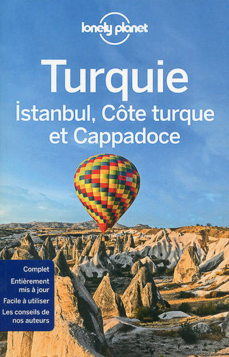 A Lonely Planety guide to turkey with a hot air balloon picture on the front cover