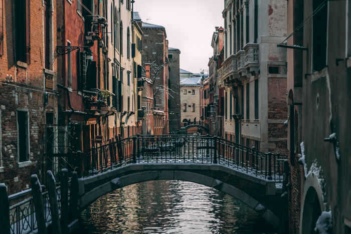 A pretty view of a canal in Venice City - Venice, Italy - icon places to photograph