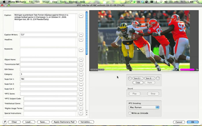 A screenshot showing how to use the Code Replacements Feature for a faster Photo Mechanic workflow
