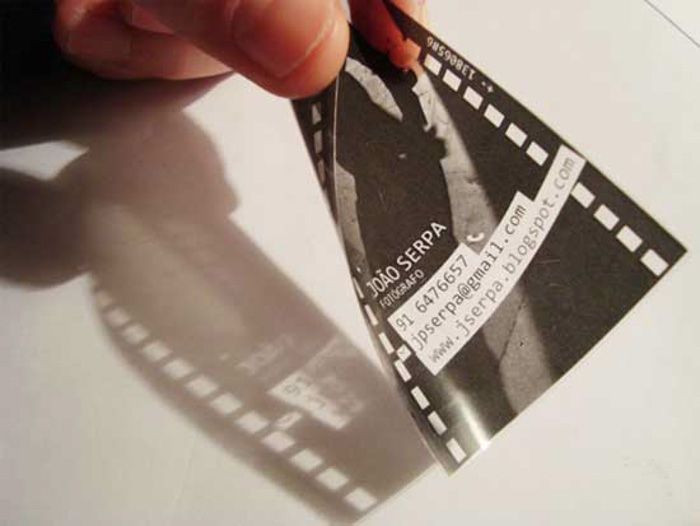 A film negative photography business card by João Serpa - diy business cards