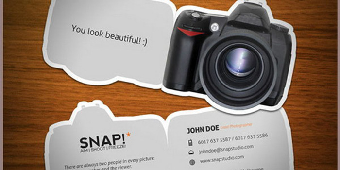 John Doe photography business cards