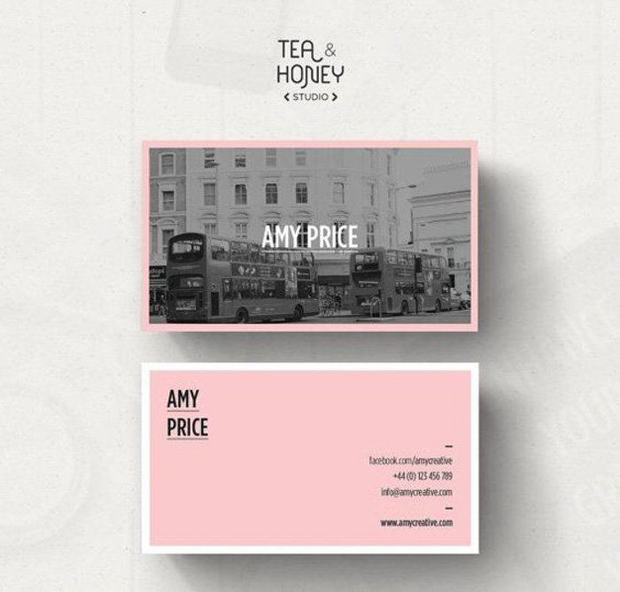 Amy Price photography business cards