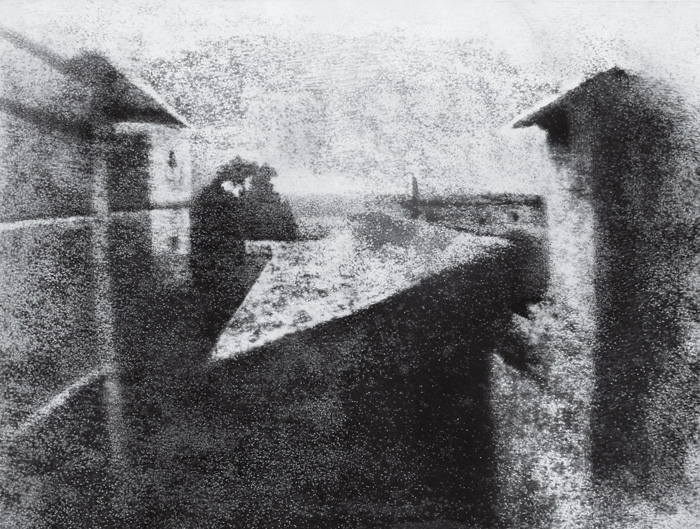 Joseph Niepce 'view from the window', the first photograph ever taken