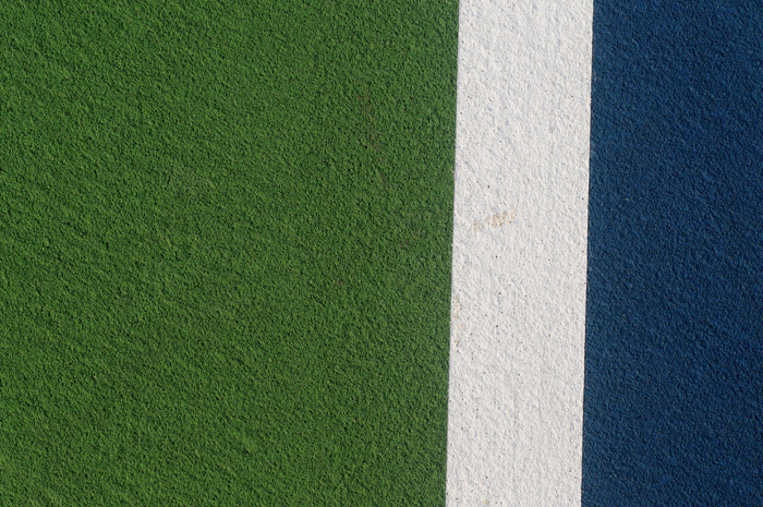 An abstract photo of a sports track - 365 photography challenge ideas