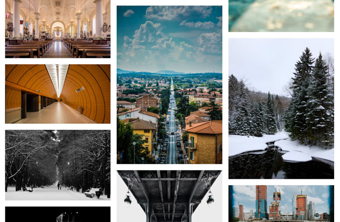 A photo grid demonstrating different composition rules - 365 photo challenge ideas