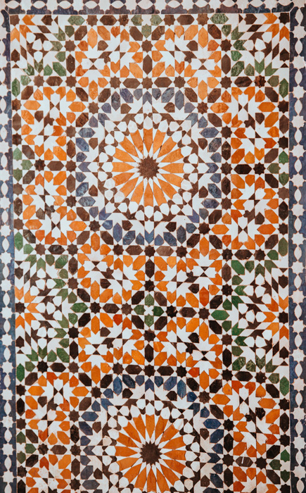 A photo of a colorful patterned tile - photography ideas