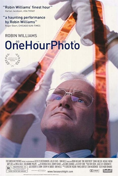 The film poster for One Hour Photo - 2002, best photography movies