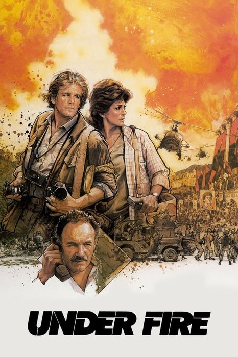 The film poster for Under Fire - 1983, best photography movies