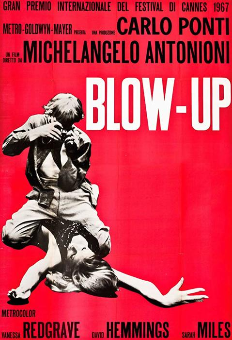 The film poster for Blow Up - 1966, best photography movies