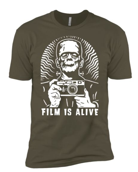 Film is Alive - cool t-shirts for photographers by Shoot Film Co