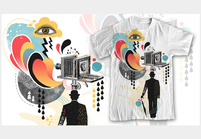 Photographic Memory - by Design By Humans, cool t-shirts for photography