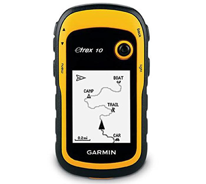 el GPS Garmin eTrex10. engranaje urbex