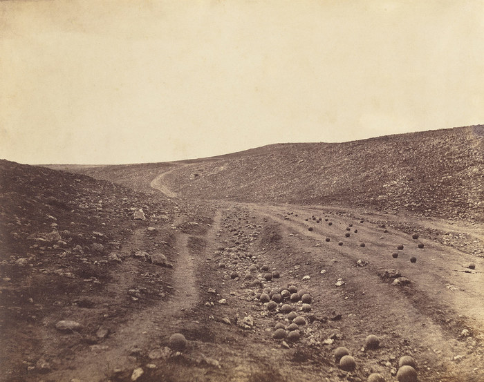 A monochrome landscape shot by Roger Fenton, best war photographers