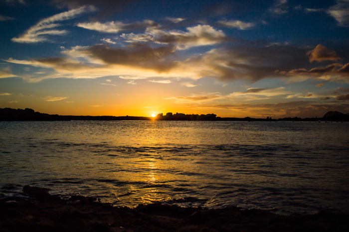 A stereotypical beautiful sunset photo - cliche stock photography