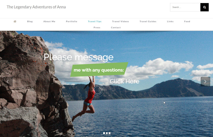 The Legendary Adventures Of Anna travel photography blog website