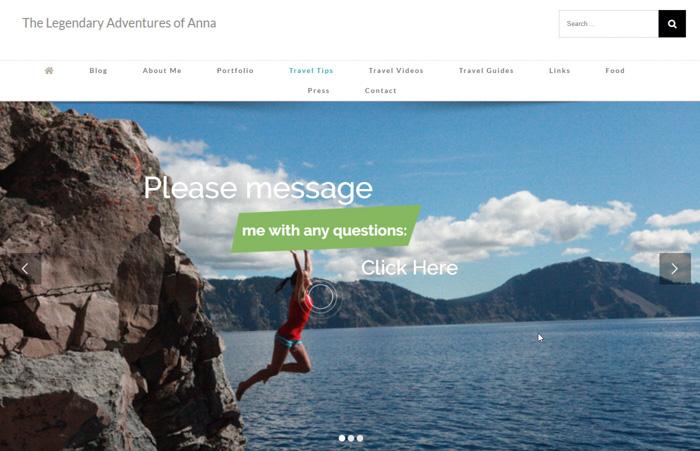 The Legendary Adventures Of Anna travel photography blog website