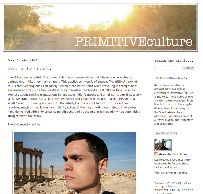 A screenshot of Primitive Culture photography blog - travel photography tips and inspiration