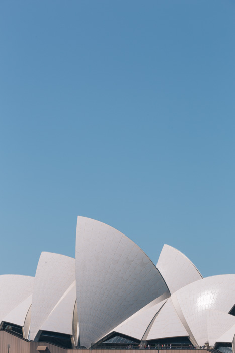 An impressive building under a clear blue sky - copyright in architecture photography