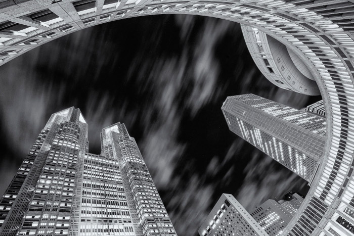 A black and white cityscapes - best Toykoo japan photography locations