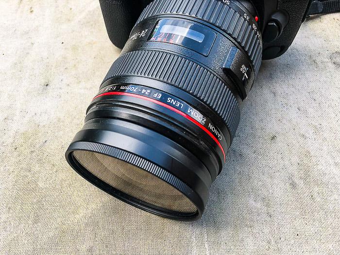 A close up of a camera lens - different parts of a camera