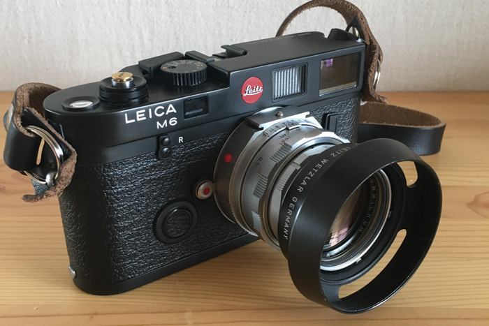 The Leica M6 classic 35mm camera