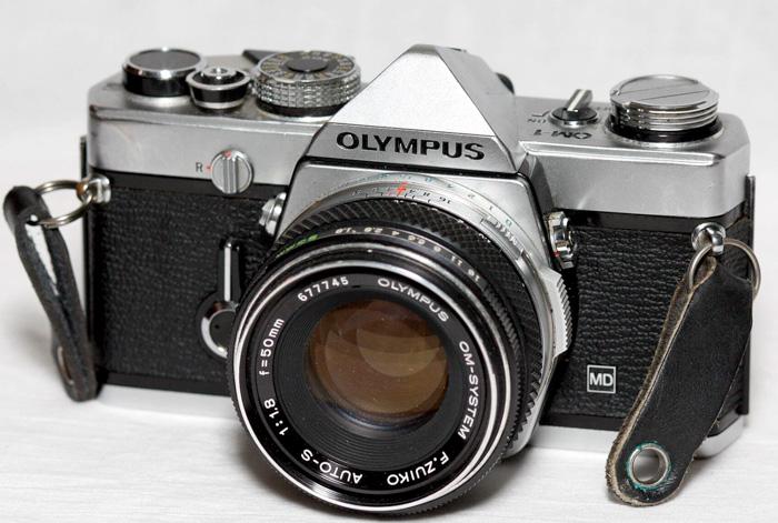 The Olympus OM-1 35mm camera