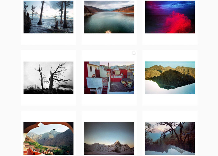 A nine photo grid by Justina Blake - contemporary film photographers