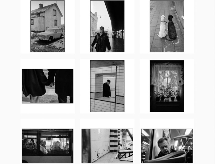 A nine photo grid of atmospheric black and white shots by Niklas Porter - best film photographers 2019