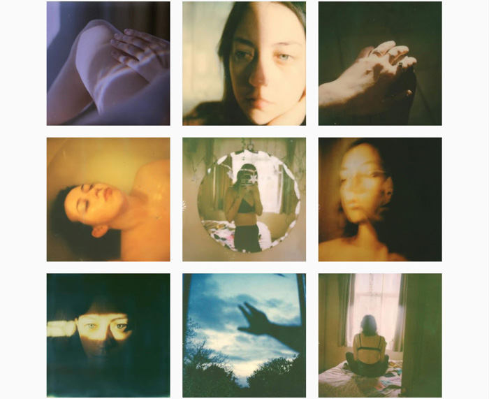A nine photo grid by Leanne Surfleet - contemporary film photographers