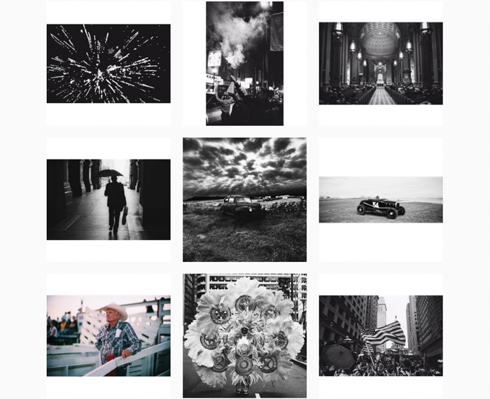 A nine photo grid by Benjamin MacMaster - contemporary film photographers