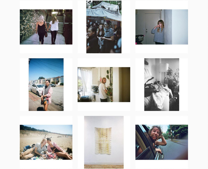 A nine photo portrait photography grid by Rachel Jane Lemme - contemporary film photographers