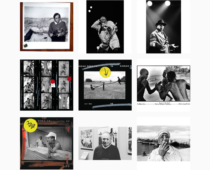 A nine photo grid by Pierre Croquet - contemporary film photographers