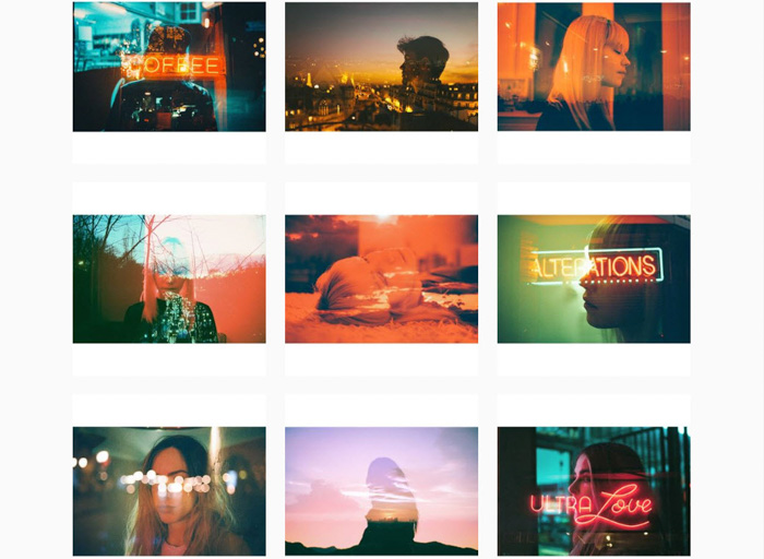 A nine photo grid by Louise Dazy - contemporary analog photography