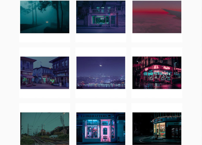 A nine photo grid by Elsa Bleda - analog photographers 2019